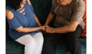 couple during drug treatment therapy session