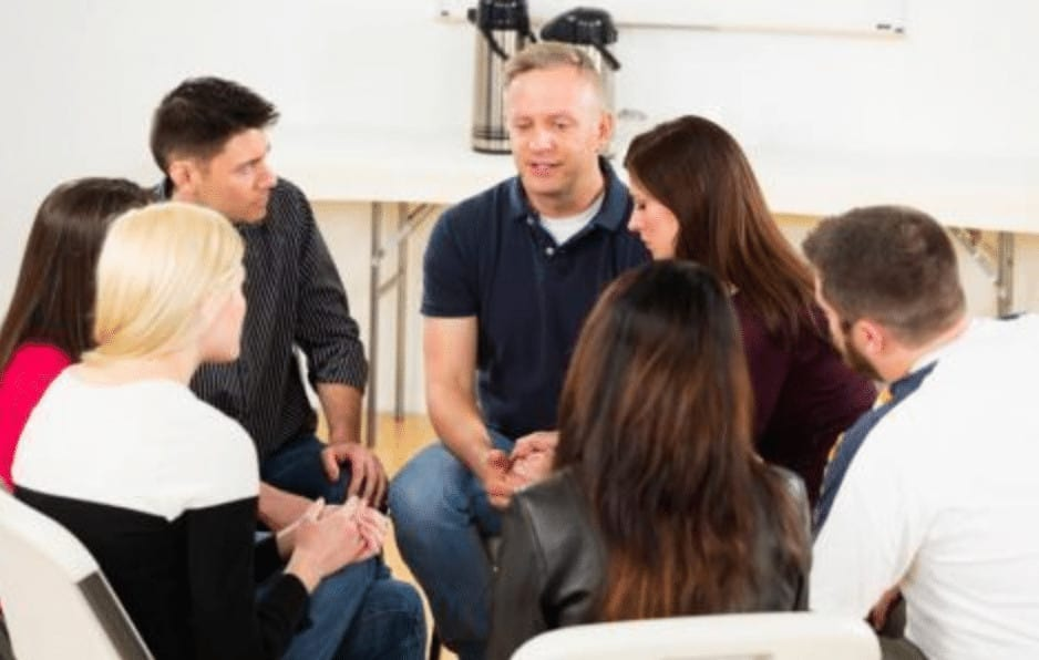 group therapy at outpatient treatment